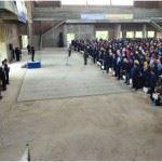 Upacara pemberangkatan KKN PPM dengan komandan upacara Wakil Rektor 1